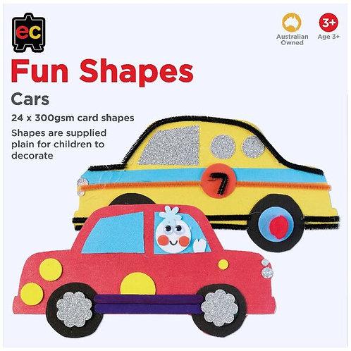 Fun Shapes Cars 24pc 225 x 225mm Hangsell