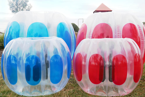 Kids Inflatable Bubble Soccer Ball in Blue or Red 75x110cm