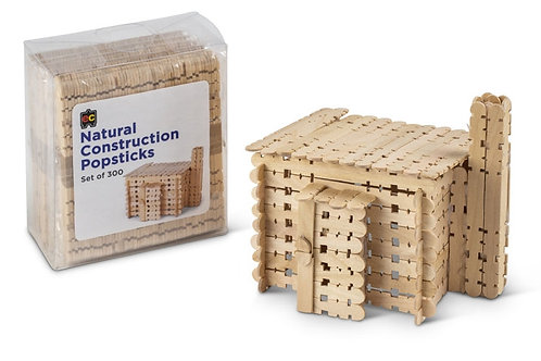 Construction Popsticks Natural Packet 300