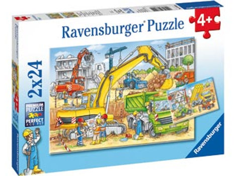 Ravensburger - Hard at Work Puzzle 2x24 pieces