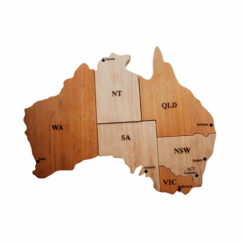 Australian Map Wooden Puzzle Play set