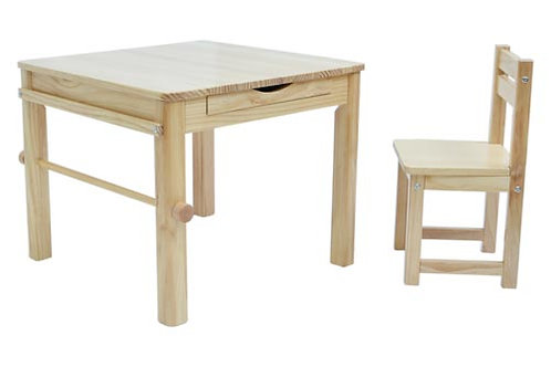Tikk Tokk Little Boss Art Table and Chair Set Natural