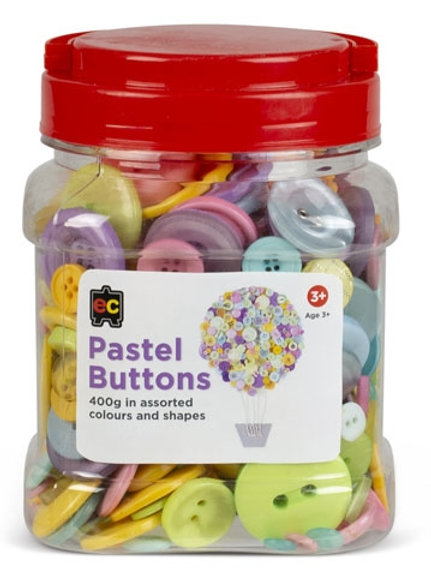 Pastel Buttons Assorted Jar 400grams