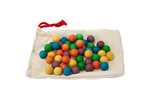 Wooden Balls Set of 50 (colour)