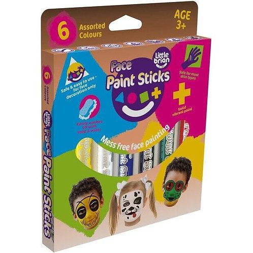 Little Brian Face Paint Sticks - 6 Pack