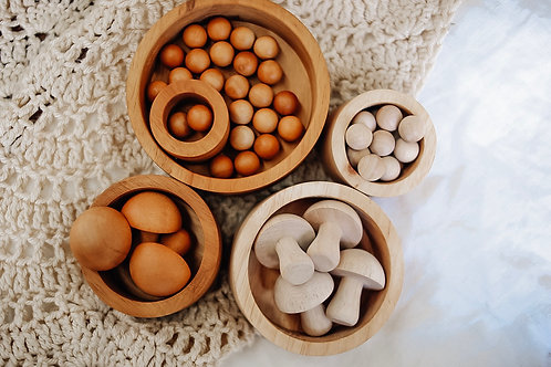 Mushroom set of 10 (natural)
