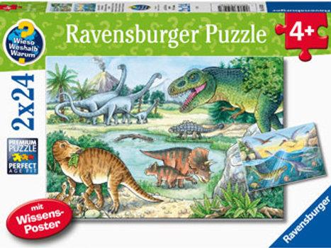 Ravensburger - Dinosaurs of land and sea 2x24pc