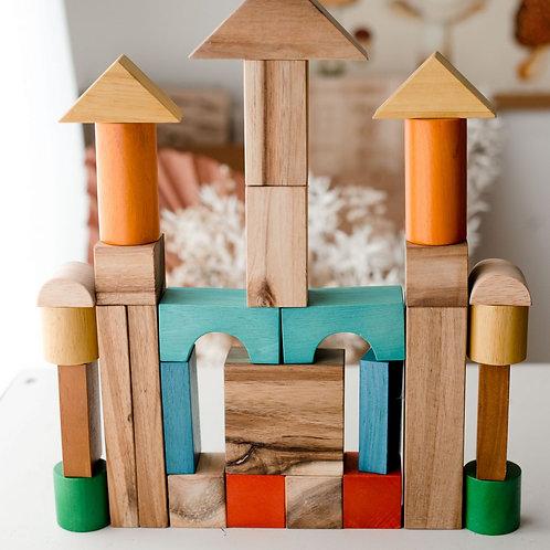 Natural colour wooden blocks (35x27x5cm)