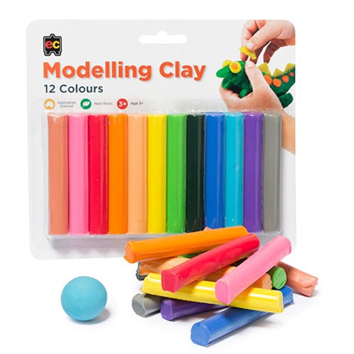 Fun Clay 12s Assorted Colours (Blister Pack)