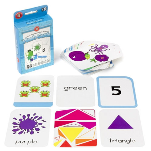 Colour, Shapes & Early Numbers Flash Cards