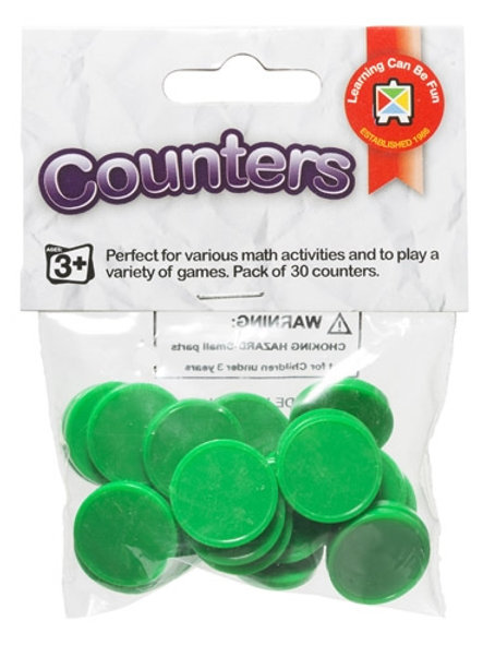 Counters Green Pack of 30