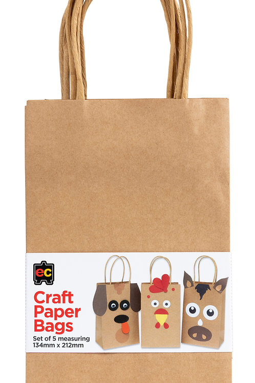 Craft Paper Bags Set of 5