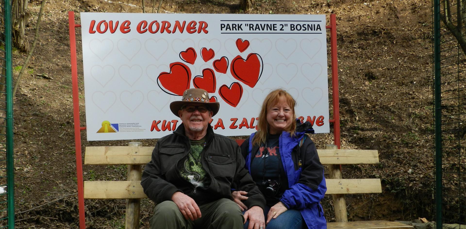 Corky & Barb in Bosnia.