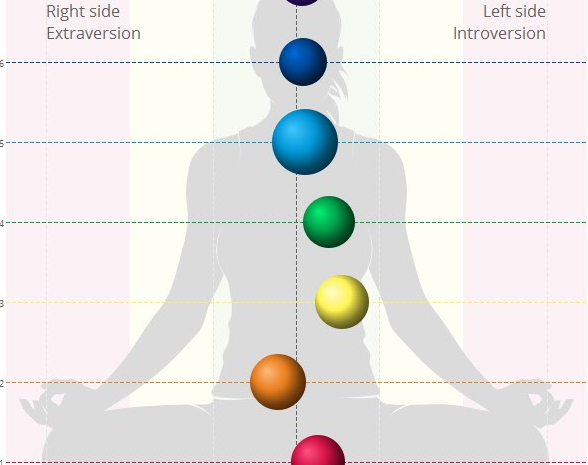 Bio-Well picture of charkra balance and strength.