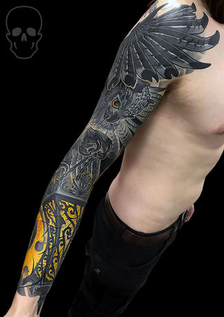neo traditional tattoo by max core