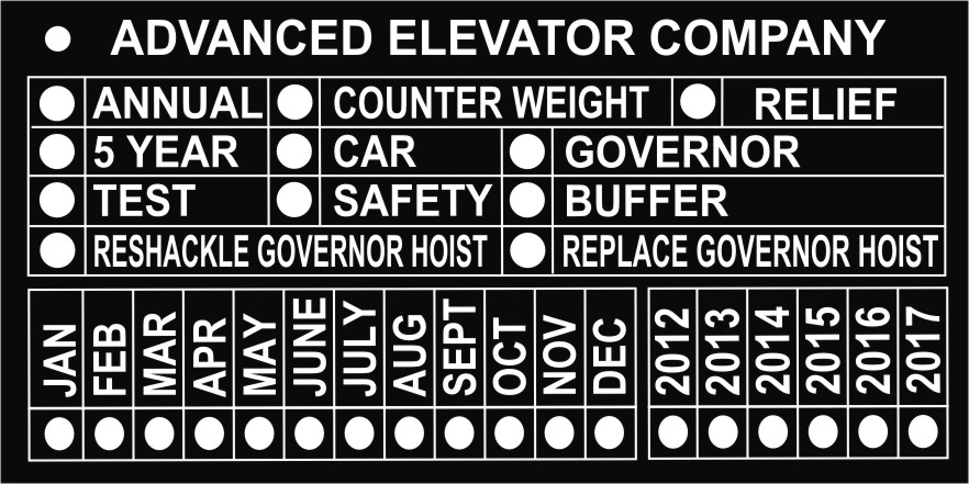 Elevator Specific Tags 888 4my Tags Metalphoto Nameplates