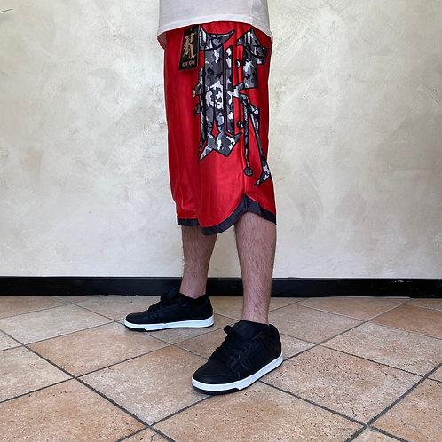 Kaliking red camo short pants