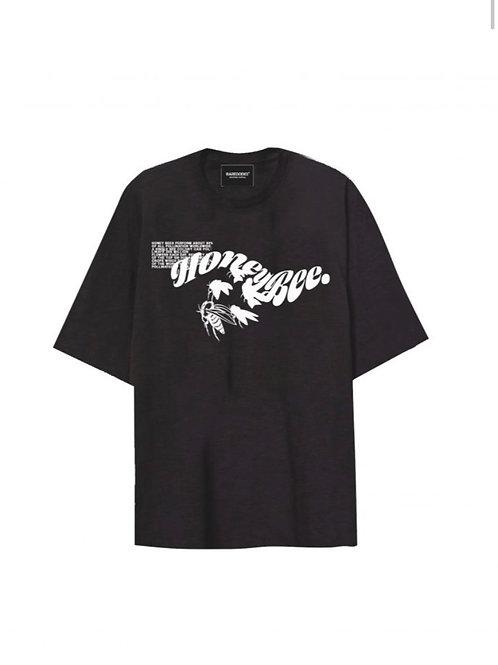 """Basedodici t-shirt oversize """"honey bees"""" black"""