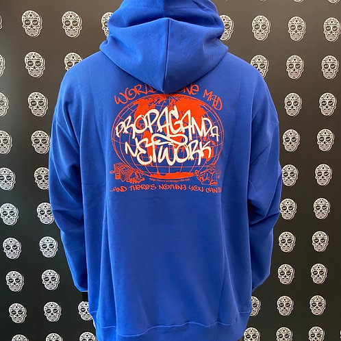 Propaganda hoodie network blue