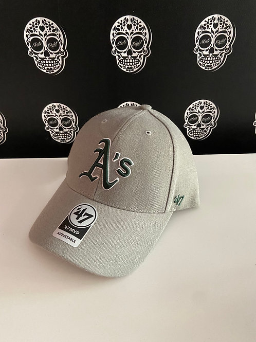 47' brand cap oakland athletics green/light grey