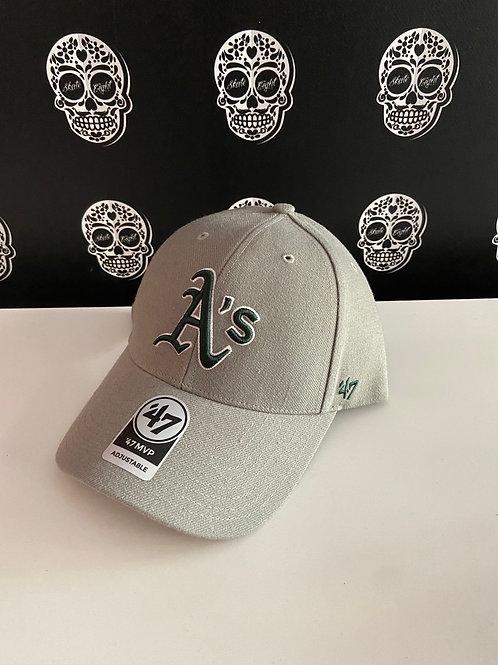 47' brand cap oakland athletics green/light grey