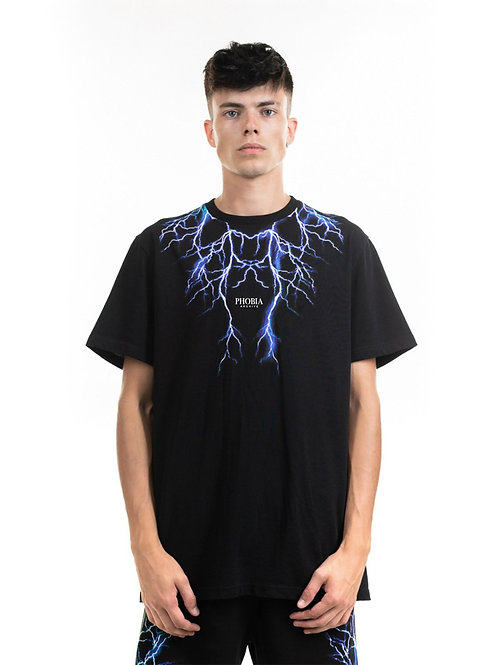 Phobia archive t-shirt lightning blue