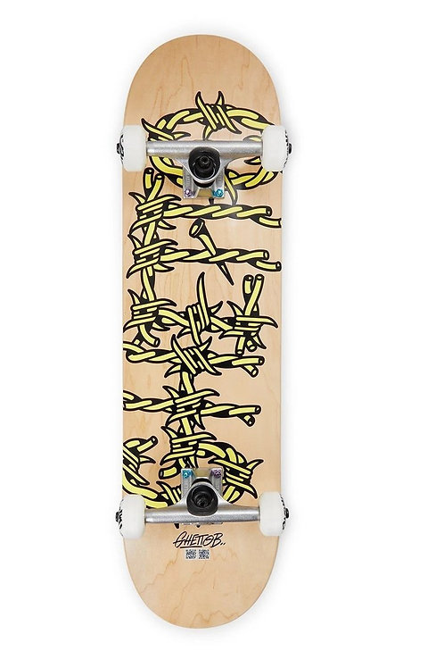 Ghetto blaster skateboard barbed wire nature 8.37""