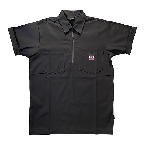 Propaganda label work shirt black SS21