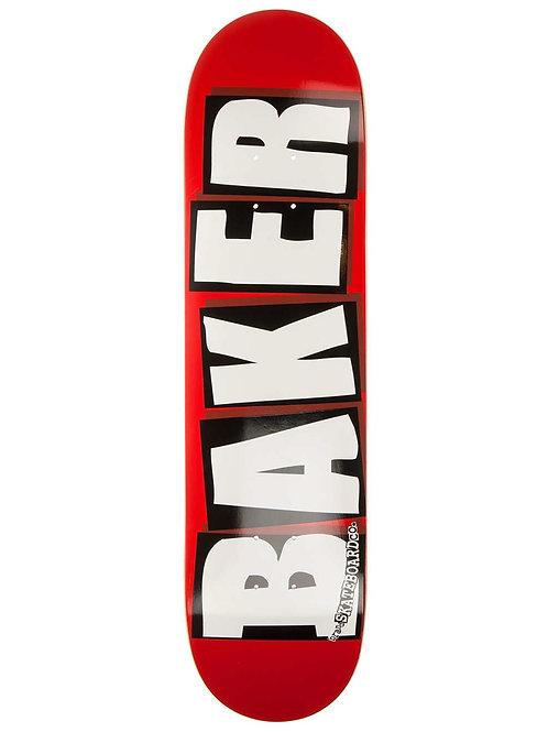 """Baker brand logo white 8.125"""""""