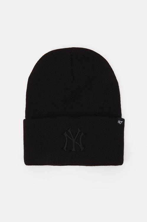 47' brand beanie new york yankees black/black