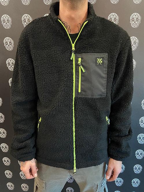 5tate of Mind sherpa zip jacket black