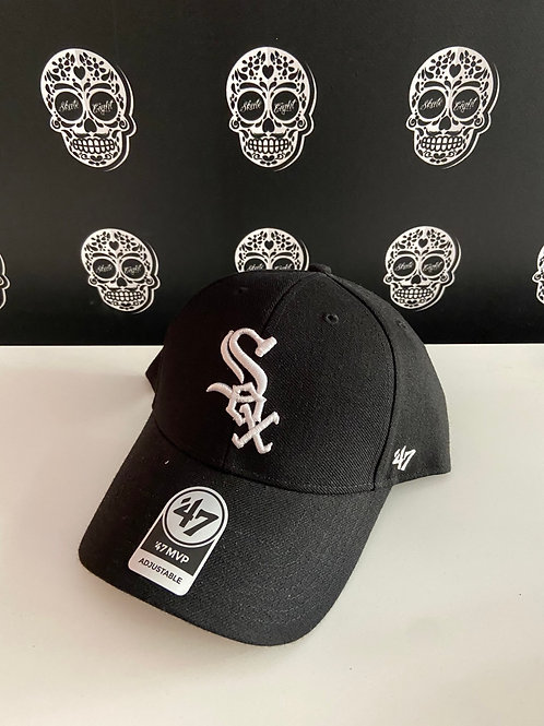 47' brand cap chicago white sox black