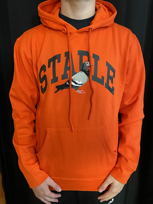 Staple orange logo hoodie
