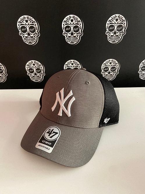 47' brand cap trucker newyork yankees grey/black