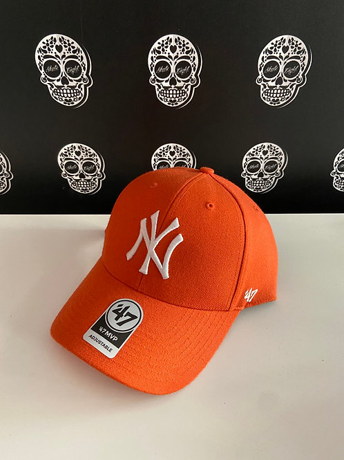 47' brand cap newyork yankees orange
