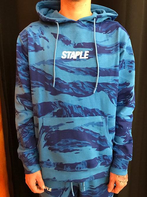 Staple popover hoodie blue