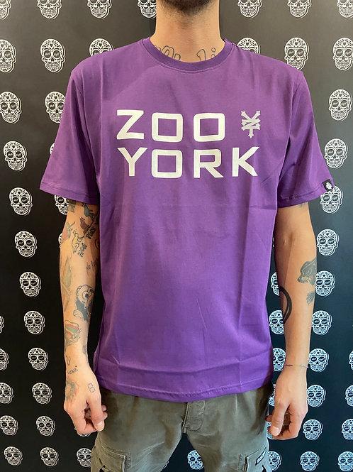 Zoo york tee classic logo purple