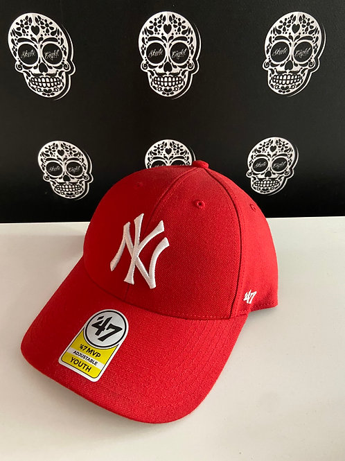 47' brand cap youth newyork yankees red