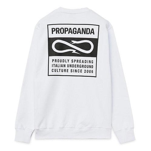 Propaganda label crewneck white