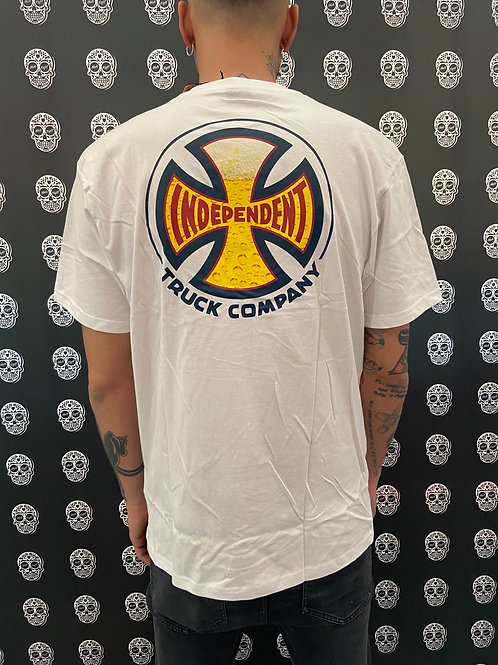 Independent suds tee white