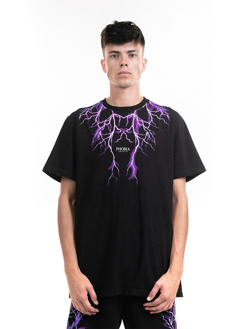 Phobia archive t-shirt lightning purple