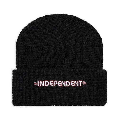 Independent bar beanie black