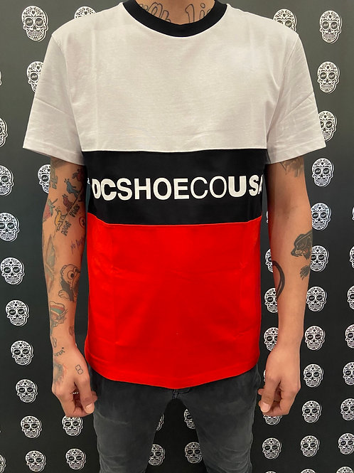 DC shoes t-shirt white/red/stripes