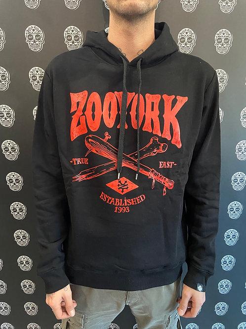 Zoo york hoodie bones black