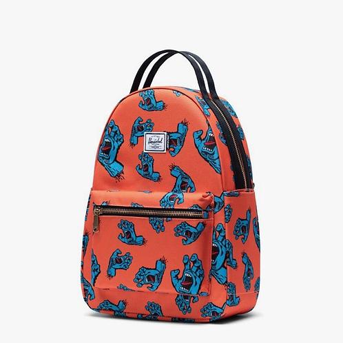Santa Cruz x Herschel nova backpack small firecracker/screaming hand