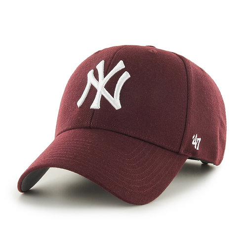 47 brand new york cap maroon