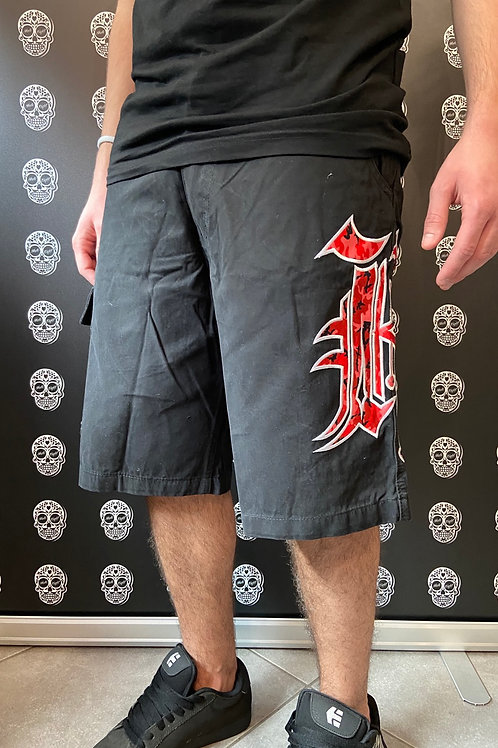 Kaliking cargo short black/red
