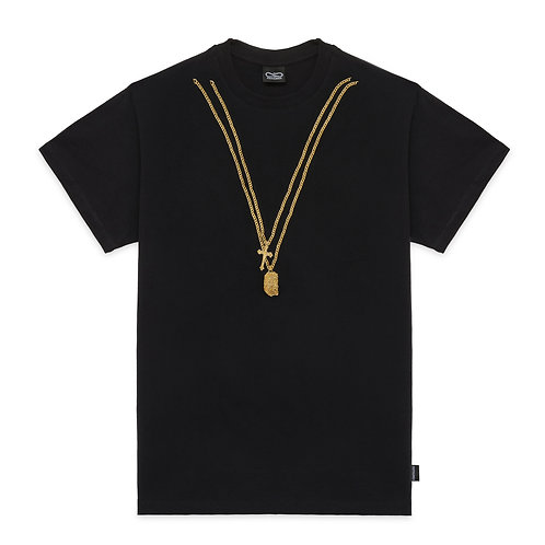 Propaganda necklace tee black SS21