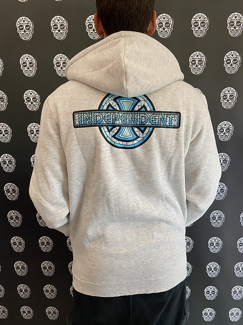Independent truck co. stained glass zip hood
