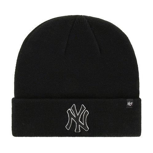47' brand beanie new york yankees black full